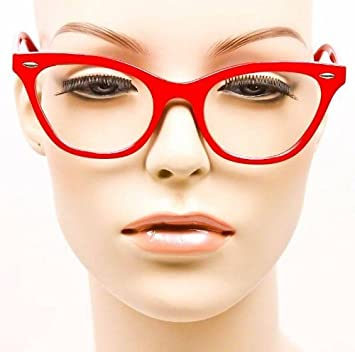 cd2c227b49 Image Unavailable. Image not available for. Color  Sexy Cat Eye Red Glasses  ...