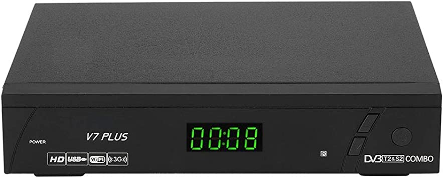 Receptor de TV vía satélite, receptor de satélite 1080P Full HD PAL / NTSC,Receptor de satélite DVB-S2, Wi-Fi incorporado, conmutación automática PAL ...