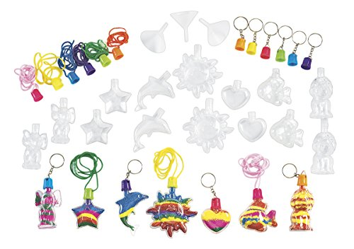 Colorations Sand Art Necklace & Key Chain Group Pack (Item # FILLRUP) Chain Art