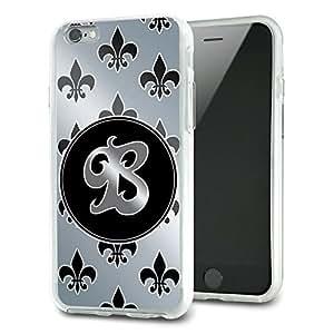 Letter B on Fleur De Lis Pattern Slim Fit Hybrid Case Fits Apple iPhone 6 Plus