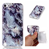 Case for iPod Touch 5/Touch 6, Leathlux Premium Marble Pattern Soft Silicone Skin Cover Protective Bumper Flexible TPU Gel Ultra Slim Case Case for iPod Touch 5/Touch 6 Gray