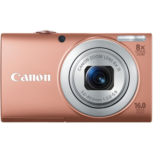 Canon PowerShot A4000IS 16.0 MP Digital Camera with 8x Optical Image Stabilized Zoom 28mm Wide-Angle Lens with 720p HD Video Recording and 3.0-Inch LCD (Pink) ()
