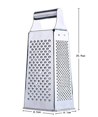Diamond Home Stainless Steel Cheese Grater 4 Sided by diamond home