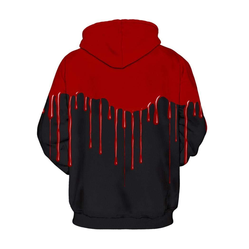 Men's Jackets & Coats, Sweatshirts for Men Hoodie, Loves' Casual Autumn Winter 3D Printing Long Sleeve Hoodies Sweatshirt Blouse (Black, 2XL/3XL) by SamMoSon (Image #3)