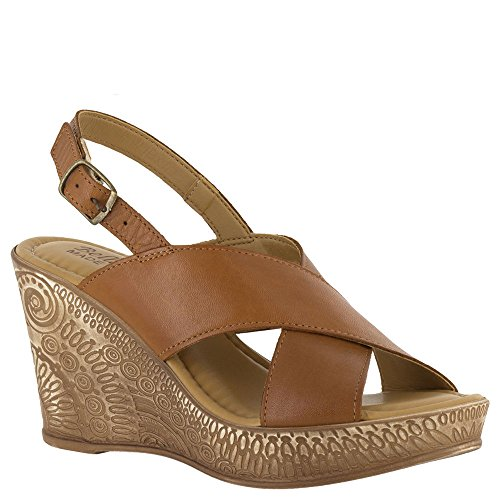 Bella Vita Women's Lea-Italy Slingback Wedge Sandal,Whiskey Leather,US 10 M