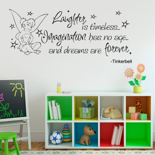 Vu0026C Designs Ltd (TM) Tinkerbell Childrenu0027s Bedroom Kids Room Playroom Nursery  Wall Sticker Wall Part 65