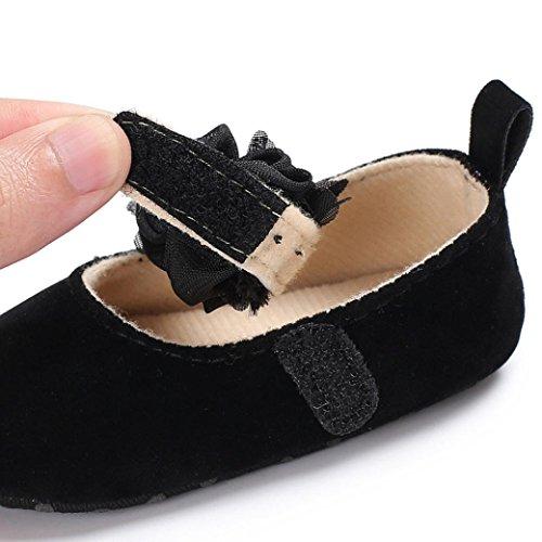 Clode® Baby-Säugling scherzt Mädchen-weiche alleinige Krippe-Kleinkind-Neugeborene Schuhe Schwarz