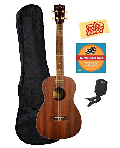 Kala MK-B Makala Baritone Ukulele Bundle with Gig Bag, Tuner, Austin Bazaar Instructional DVD, and Polishing Cloth