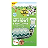 Bags on Board Dog Waste Bag Dispenser with 14 Refill Bags