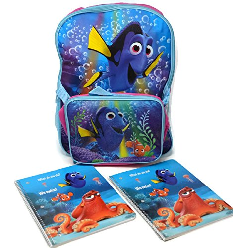 Disney Finding Dory Deluxe Backpack and Lunch Bag with 2 Matching Composition - Shopping Fairview