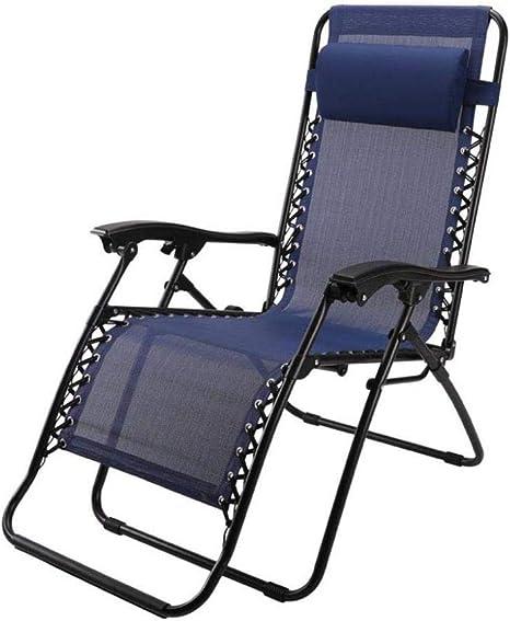 WJJJ - Tumbona reclinable Plegable para jardín, tumbonas de Gravedad Cero con reposacabezas con portavasos de textileno Azul (Color: #1): Amazon.es: Deportes y aire libre