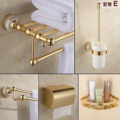 Suit -E The European Media to Aluminum, Bathroom Toilet Toilet Batteries Blond Hanger,Function -F