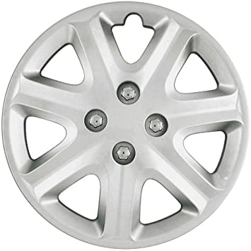 Amazon Com Cci Iwcb8902 15s 15 Inch Clip On Silver Finish Hubcaps Pack Of 4 Automotive