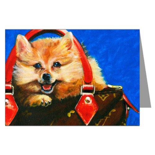 pomeranian-in-a-louis-vuitton-inspired-handbag-greeting-card-set
