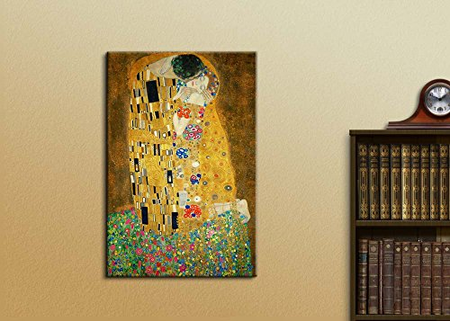 The Kiss by Gustav Klimt Painting Wall Decor