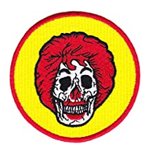 Clown Skull Shirt Patch 8cm - Ruckus Patches - Cool Patches - Iron On - Funny - Parody