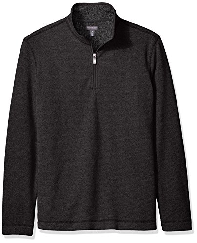 Van Heusen Men's Sweater Fleece, Black, - Zipper Van