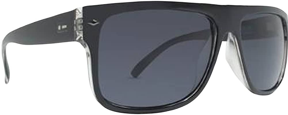 Dot Dash Sidecar Vintage Designer Sunglasses - Black Clear/Grey