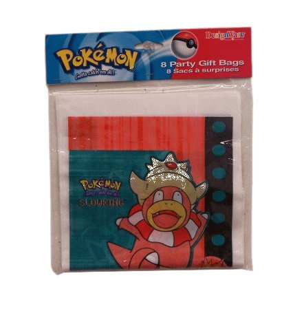 Pokemon Slowking Party Gift Bags ~ Pack of 24 Bags! by Ameri