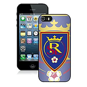 Fashionable And Antiskid Designed iPhone 5 5S Case MLS Real Salt Lake For iPhone 5 5S Protective Skin Cover Case 07 Black