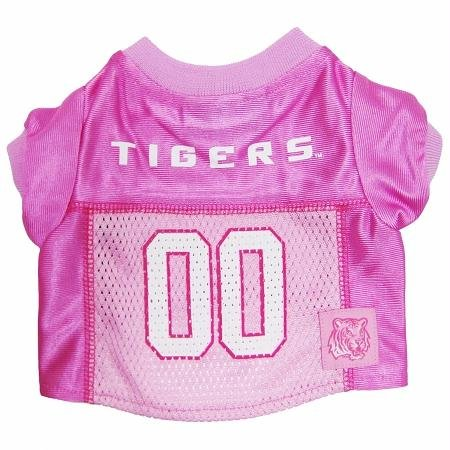 Mirage Pet Products LSU Tigers Jersey for Dogs and Cats, X-Small, Pink