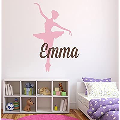 Custom Ballet Name Wall Decal - Girls Kids Room Decor - Nursery Wall Decals - Bailarina Wall Decor: Baby
