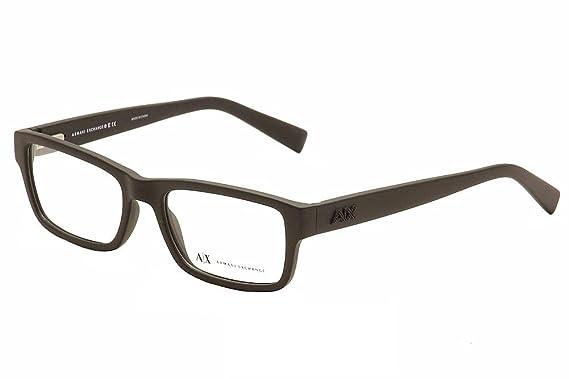 Amazon.com: Armani Exchange AX3023 Eyeglass Frames 8078-53 - Matte ...