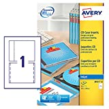 Avery J8435-25 CD Case Cover, Spine and Tray Inserts, White ,1 Label Per A4 Sheet