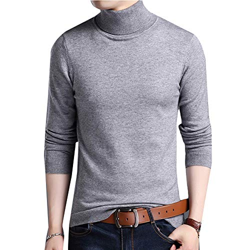 Roulé Longues Pull Casual Homme A Gris Basic Col Manches q0O10vBw6