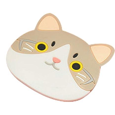 Jiobapiongxin Dibujos Animados Gato Lindo Aislante de Silicona Mesa Antideslizante para colchonetas, Mesa de Comedor