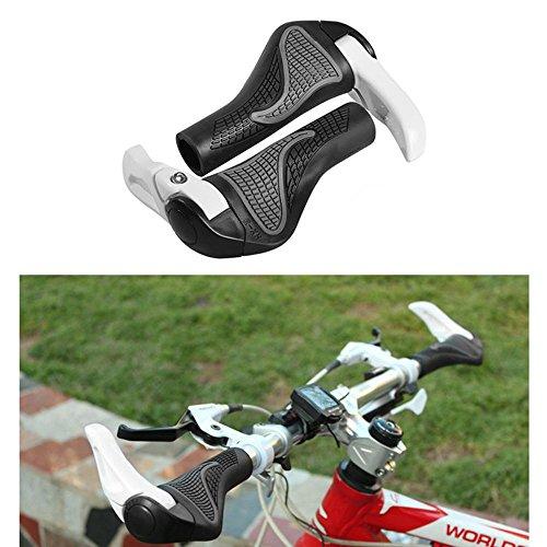 KOBWA Puños de Manillar para Bicicleta, Doble Cierre de Manillar de Cuero con manijas de Cuero, Mango de Bicicleta para Bicicleta de Montaña, ...