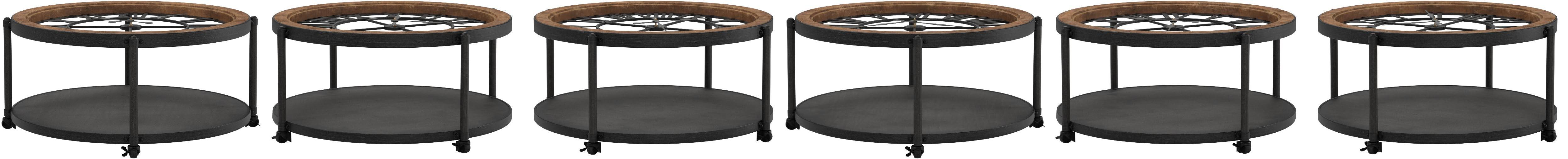 PEGANE Table dappoint avec Horloge en m/étal 49 x 50,5 x 50,50 cm