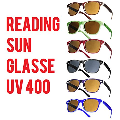 el 4sold unisex sol para vista Lectura Gafas Hinges de sol Brown Spring leer BHwYzTIq