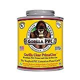 Raven R1586C Gorilla Clear PVC Cement R1585C Medium Body Primaglue, 32 oz, Yellow