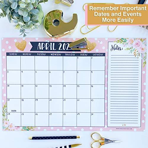 Large Wall Calendar 2022.Gold Pink Chalk Floral 2021 2022 Desk Calendar Large Monthly Wall Planner 18 Month Academic Desktop Calendar Or Fridge Planning Blotter Pad Notes Section Teachers Family Business Office 11x17 Pricepulse