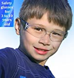 Kids safety glasses set kid eye protection blue pouch gift set for 3 to 10 years old children