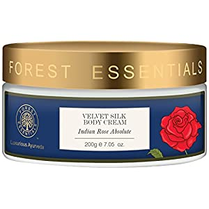 Forest Essentials Velvet Silk Body Cream Indian Rose Absolute - 200g