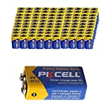 9V 6F22 Mn1604 Batteries Super Heavy Duty Carbon-Zinc Battery Count Pcs (100)