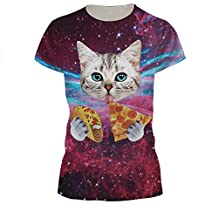 AMOMA WOMEN Unisex Casual 3D-Printed Short Sleeve Tops T-Shirts Tees