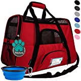 PetAmi Premium Airline Approved Soft-Sided Pet Travel Carrier | Ideal for Small - Medium Sized Cats, Dogs, and Pets | Ventilated, Comfortable Design with Safety Features (Large, Red) Larger Image