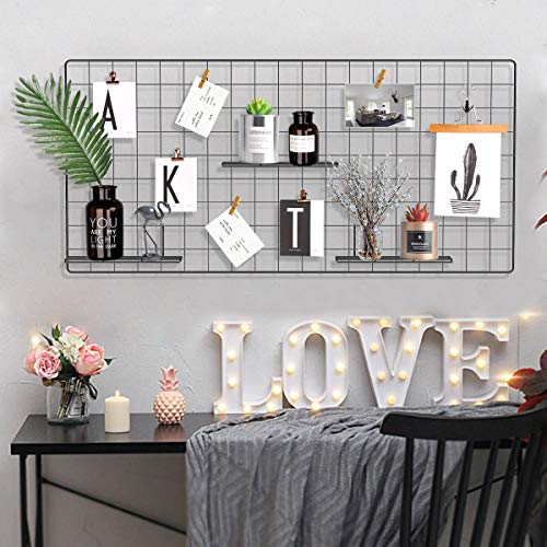 Pulatree Grid Photo Wall, Wire Wall Grid Panel for