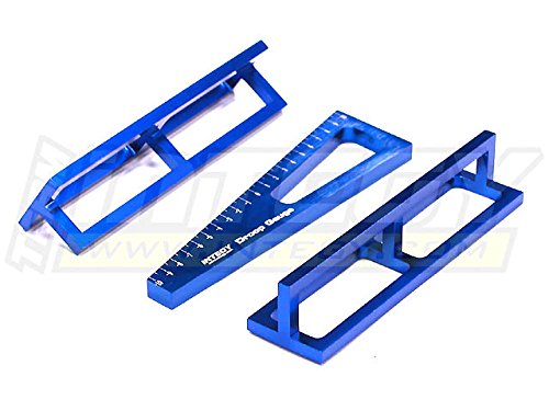 Integy RC Model Hop-ups C23058BLUE Alloy Droop Gauge + Ride Height Gauge for Mini, Micro 1/18 w/Droop Stands 20mm ()