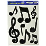 Beistle 54350 Musical Notes Peel 'N Place Party Decorations, 12-Inch by 17-Inch Sheet