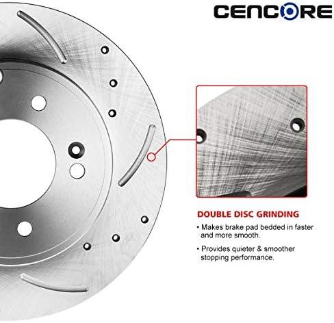 Fits:- Toyota Lexus 4 Cross-Drilled Disc Brake Rotors Front+Rear Kit 5lug Heavy Tough-Series 8 Ceramic Pads