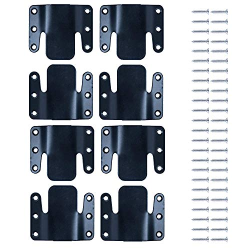 LazyMe Universal Sectional Sofa Interlocking Sofa Connector Bracket with Hardware- 4 Sets, 8 Piece