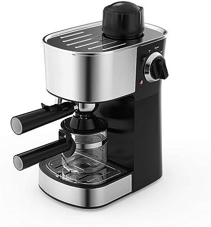 Cafetera exprés con vaporera con bandeja de goteo, espumador de leche incorporado y depósito con perilla de control ajustable, cafetera de 5 barras y máquina de capuchino: Amazon.es: Hogar