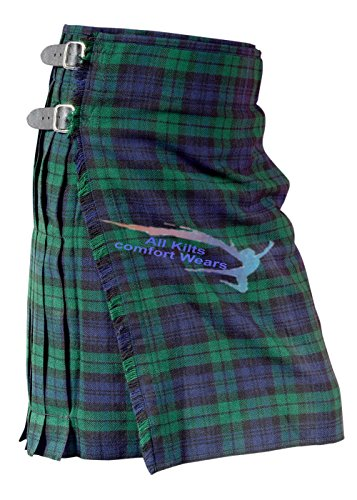 Black Watch 5 Yard & 13Oz Tartan Kilt - Tartan Kilts (Black Watch Kilt)