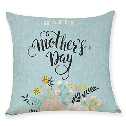 (AOJIAN Home Decor Cushion Cover, Throw Pillow Covers Happy Mother's Day Protectors Bolster Case Pillowslip)