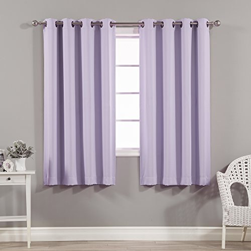 Best Home Fashion Thermal Insulated Blackout Curtains - Antique Bronze Grommet Top - Lavender- 52