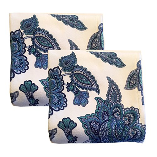 "Paisley Vine Reactive Print Jumbo 28"" x 50"" Bath-Beach Towel Set - 2 Pack"